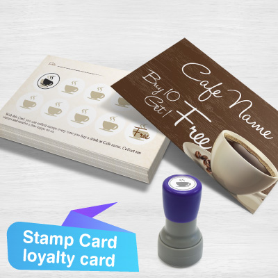 thumbnail Super White Stock Paper Stamp Card loyalty card
